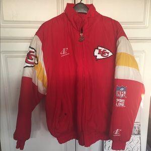 Kansas City Chiefs Throwback Puffer Coat